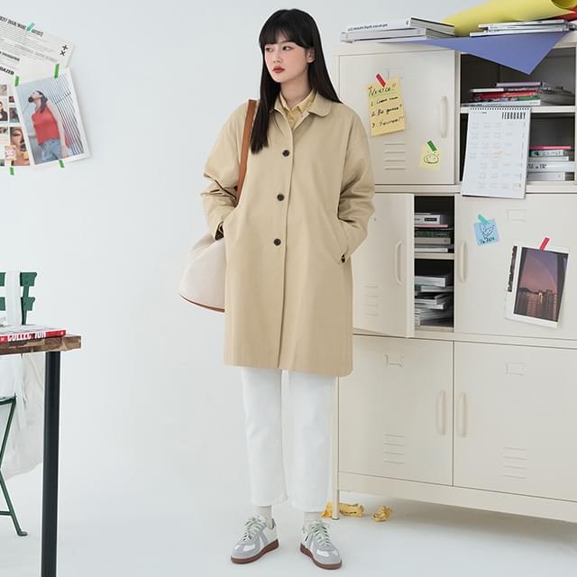 single half trench coat