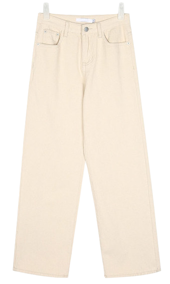 rich ivory long cotton pants