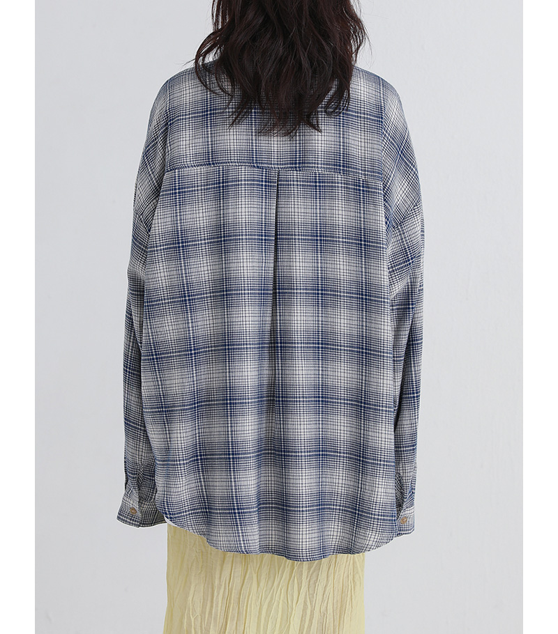poter check boxy shirt