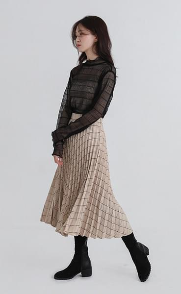 clever pleats skirt