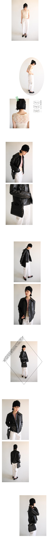 single collar leather jacket