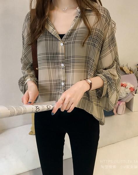 Check blouse