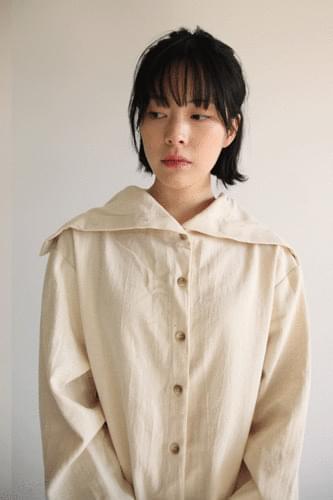 sailor collar cotton shirt (2colors)