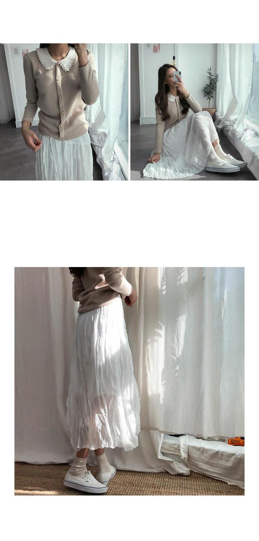 Chiffon Ellis pleated long skirt