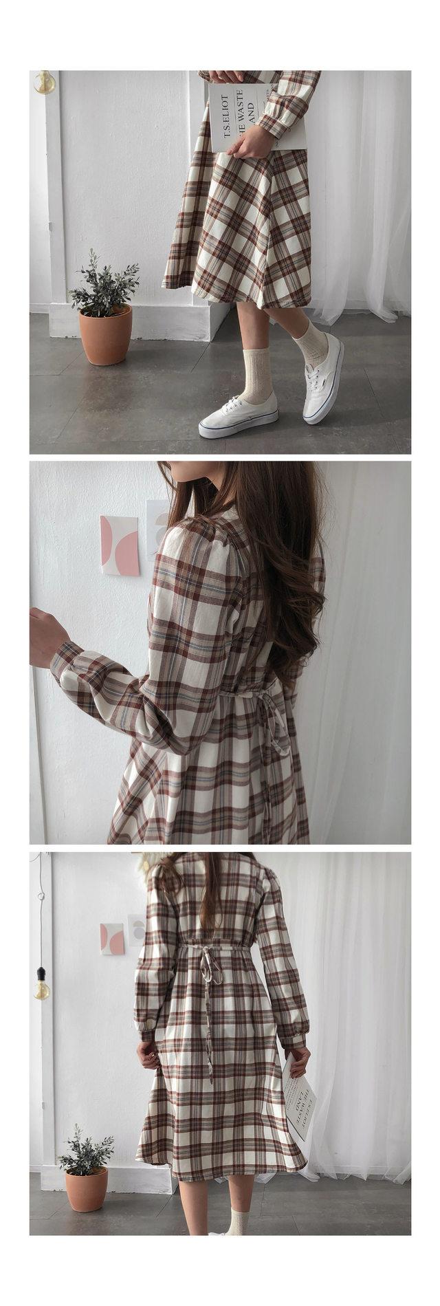 Lady check dress