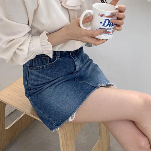 Tell Me Denim Mini Skirt