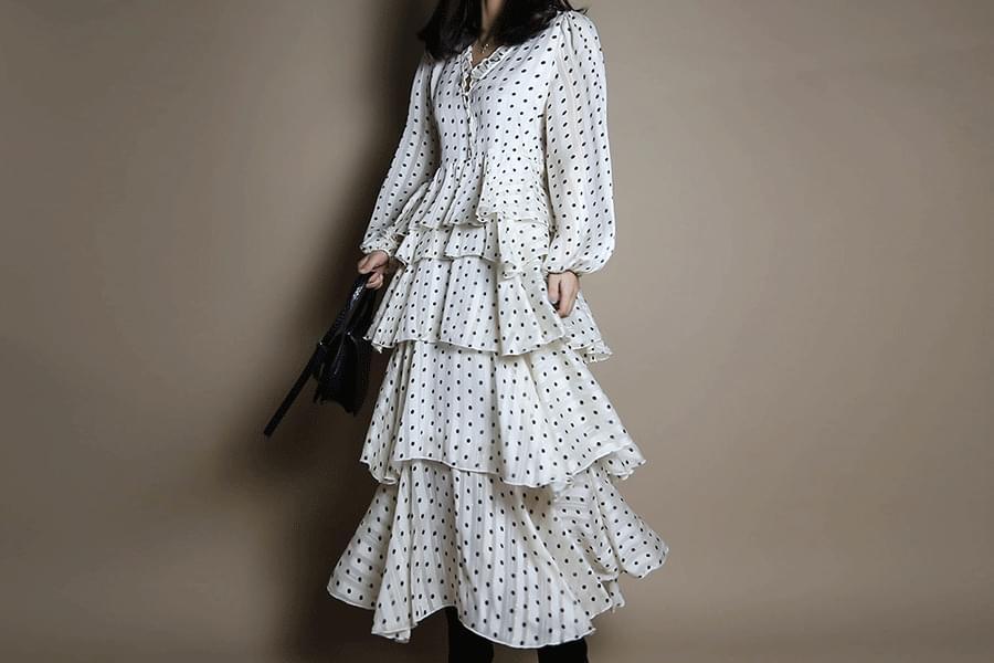 Dot Kankan Long Dress _op02958