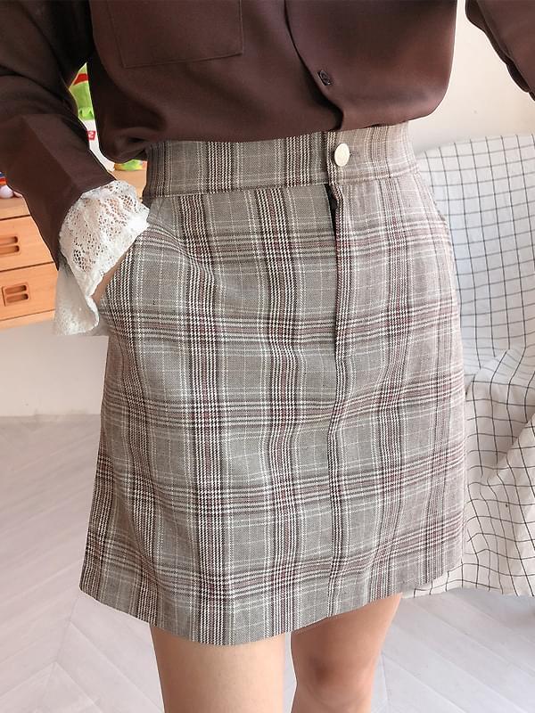 Sunny check skirt