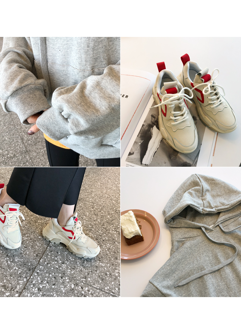 Casual point sneakers