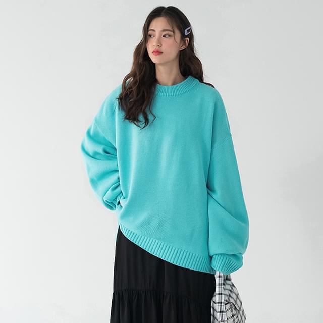 basic soft loose fit knit