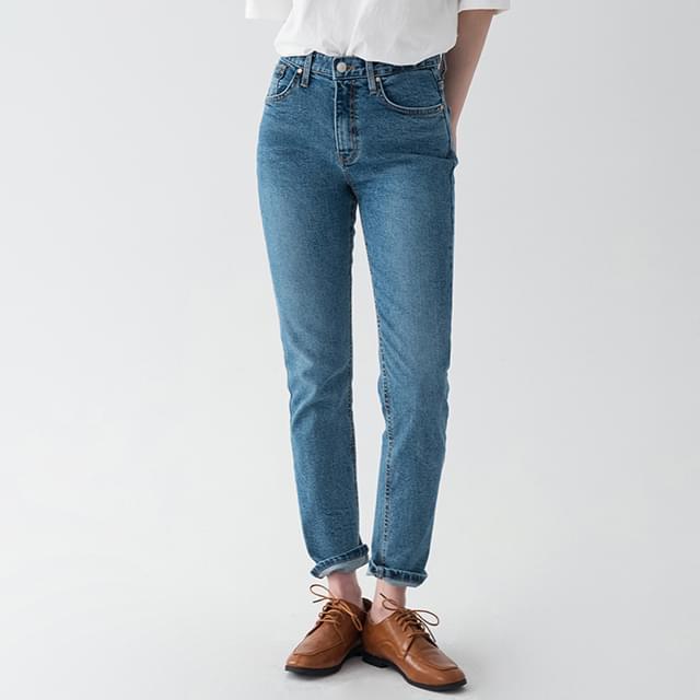 long leg fit denim pants