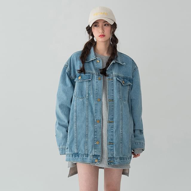 Vintage Washed Loose Fit Denim Jacket