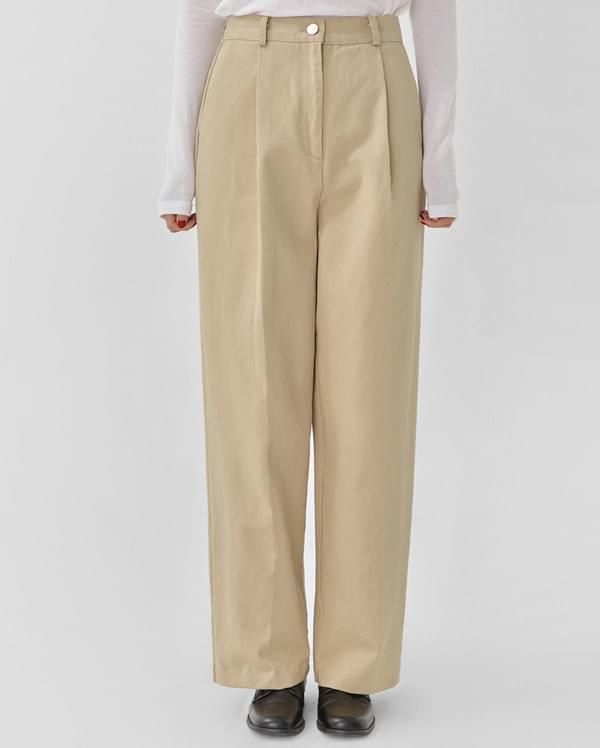 glam wide cotton pants (s, m)