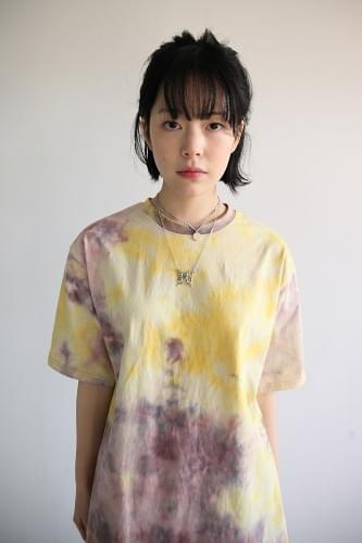 vivid color dyeing tee (4colors)