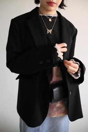 cotton 2-button single jacket (2colors)