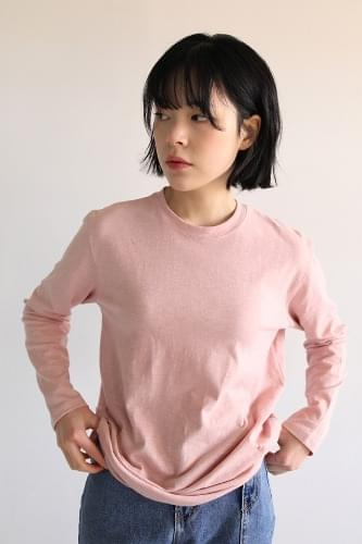 dry cotton sleeve tee (4colors)
