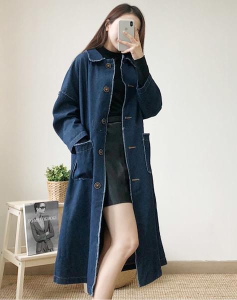 Milano denim long jacket