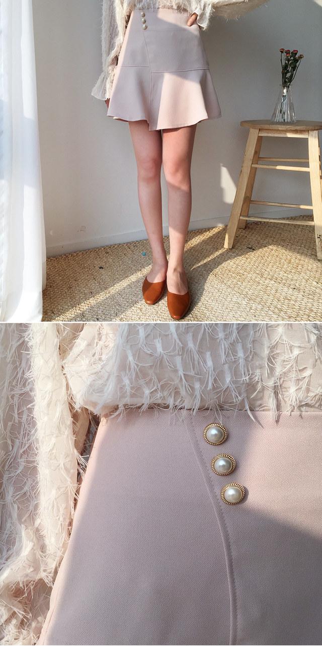 Button rhapsody skirt