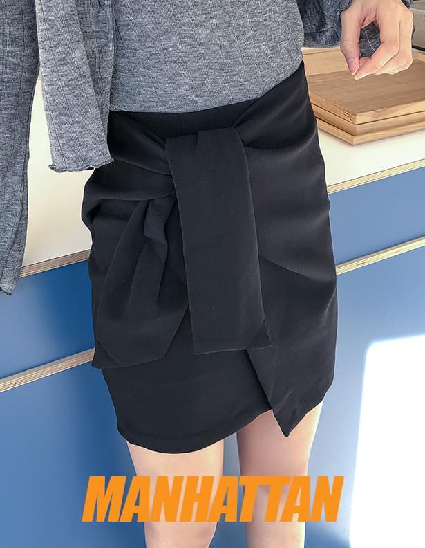 Manhattan wrap skirt
