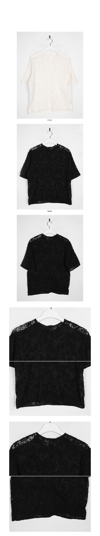 feather crease half blouse