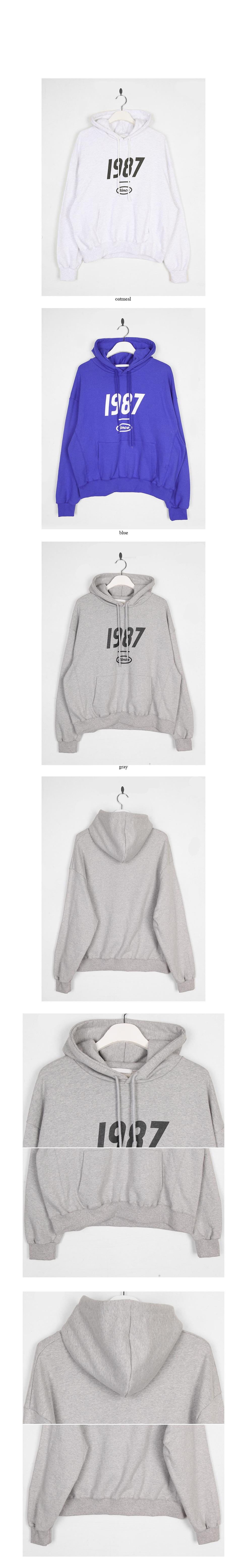 1987 lettering hoodie