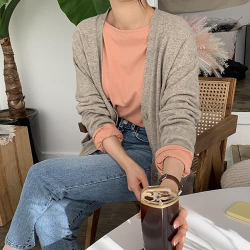 Age loose fit knit cardigan