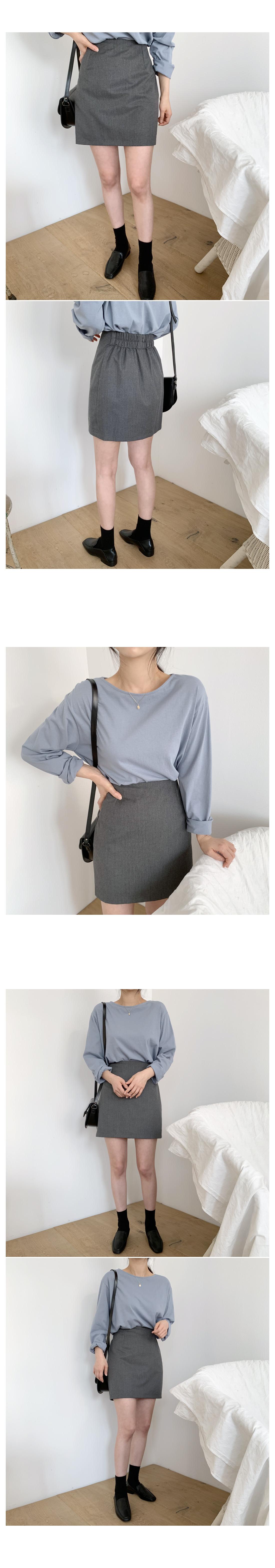 Mud herringbone mini skirt
