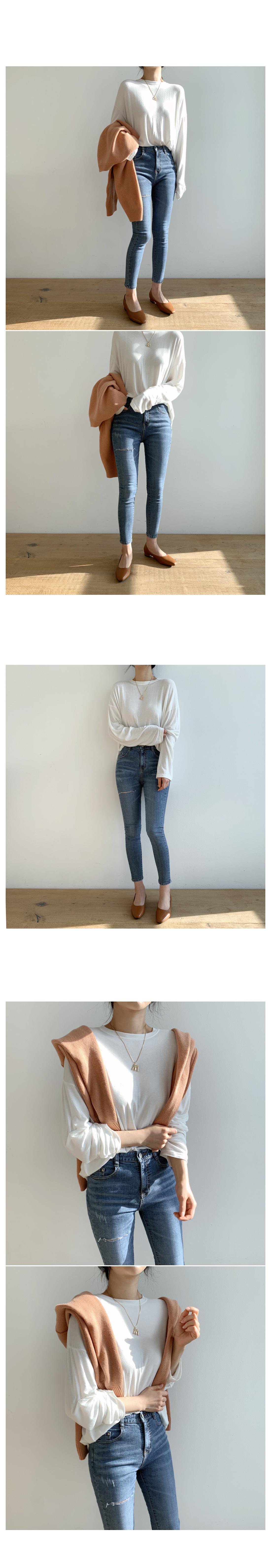 Slit banghai skinny pants