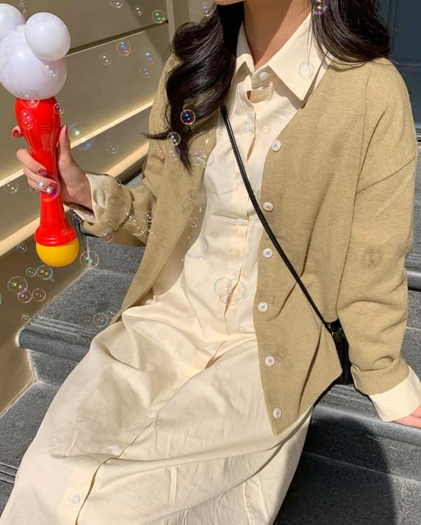 cell pastel wool cardigan