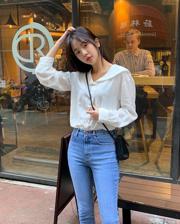 cute sailor lace blouse