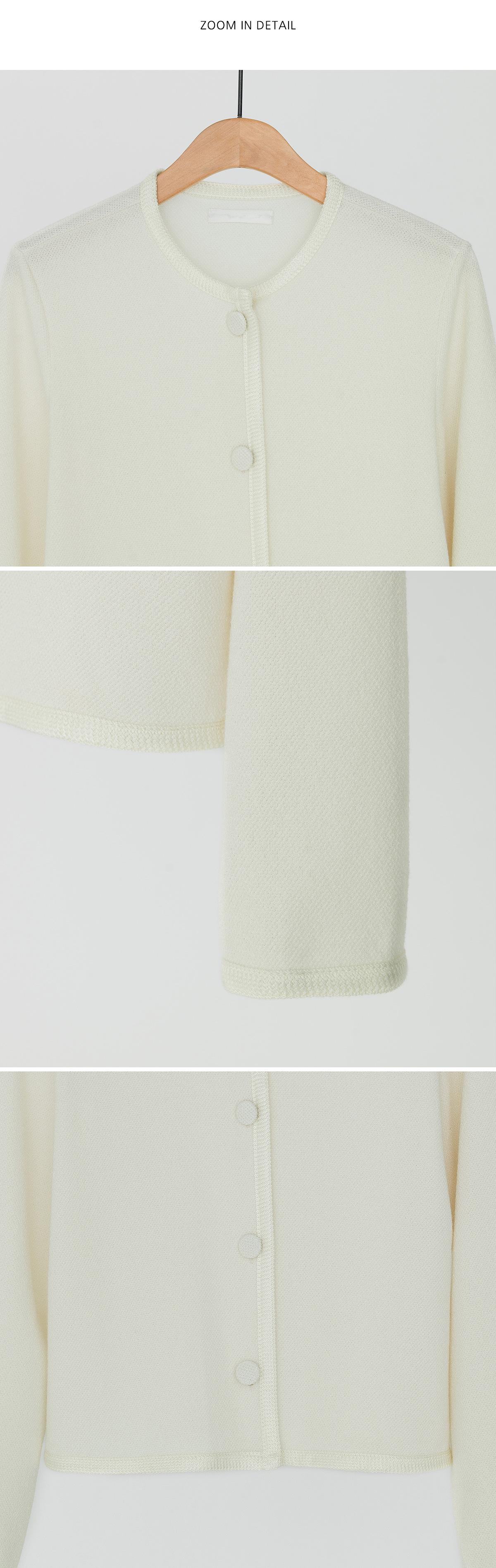 feminine round neck cardigan