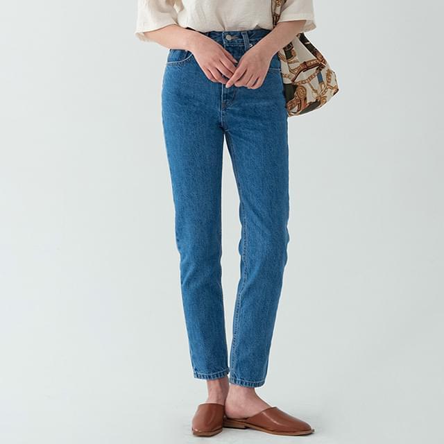 Bubble Trendy Straight Fit Denim Pants-pt