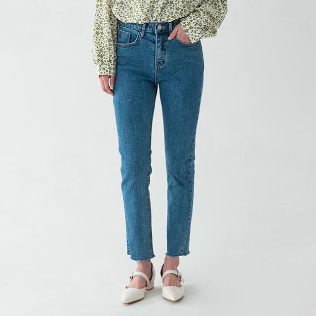 Visual straight fit denim pants