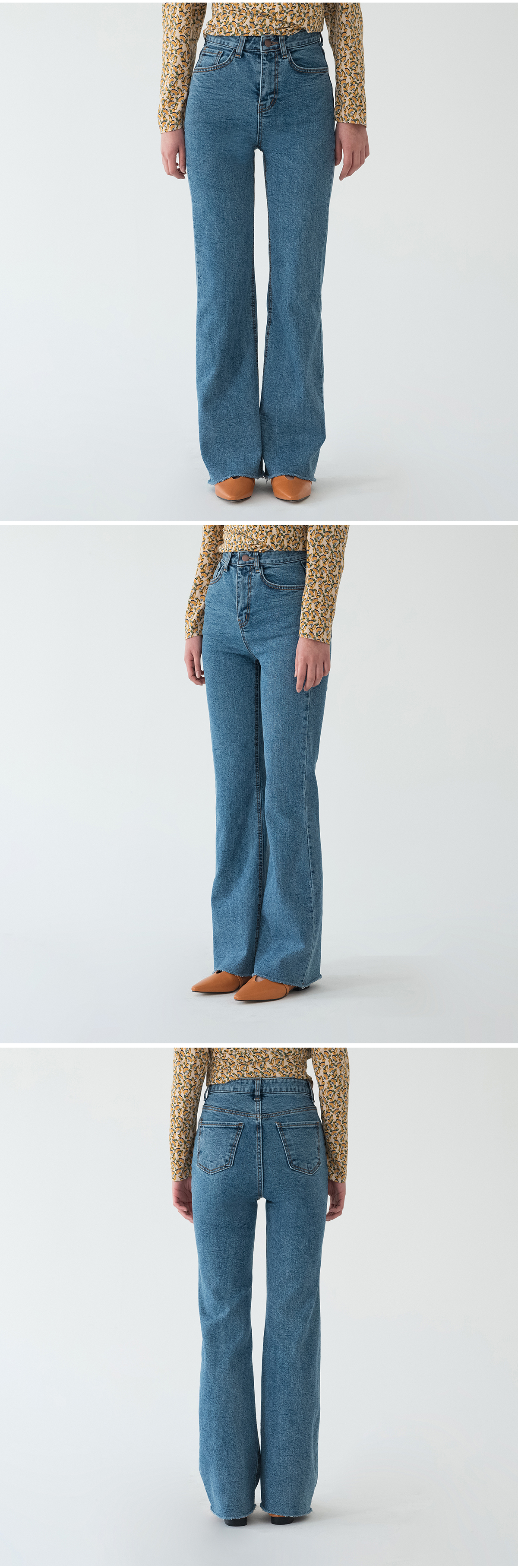 sensual boots-cut denim pants