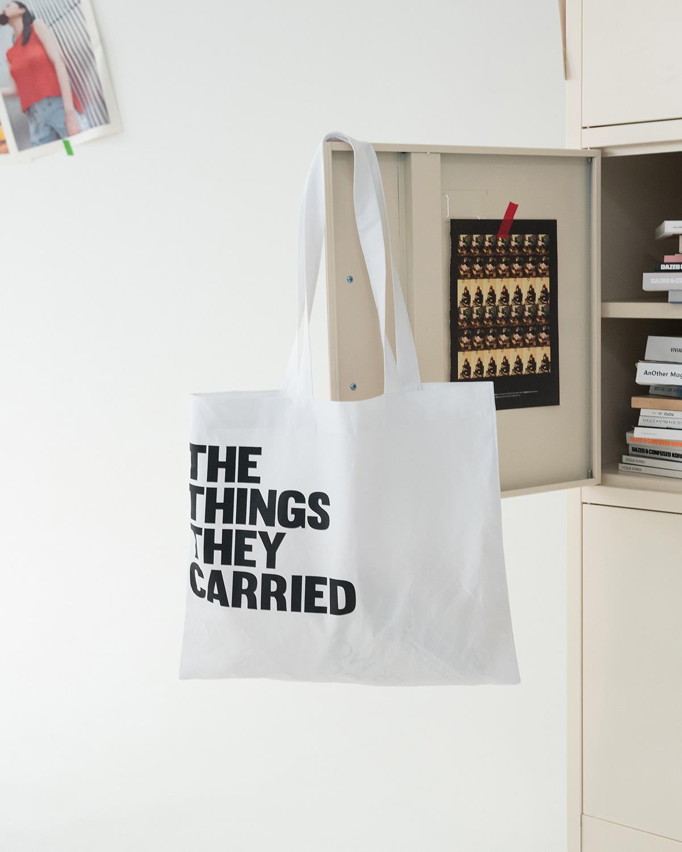 lettering square eco bag
