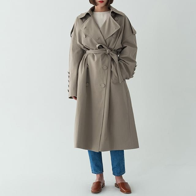 modern long trench coat