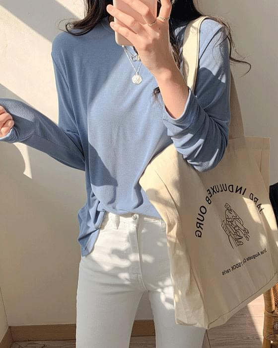 Spring Day Tencel Long Sleeve Tee-3color