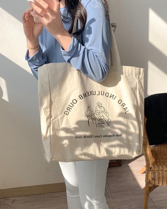 Lettering Big Eco Bag