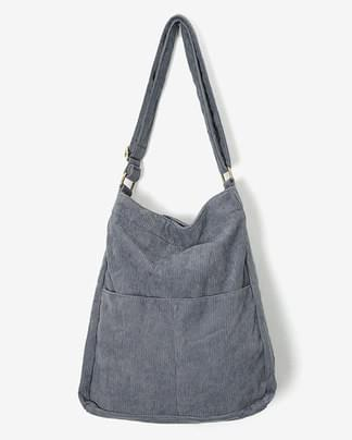 cross corduroy shoulder bag