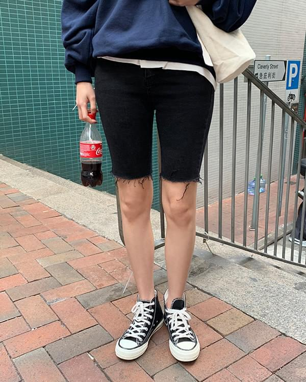 trendy cutting half pants