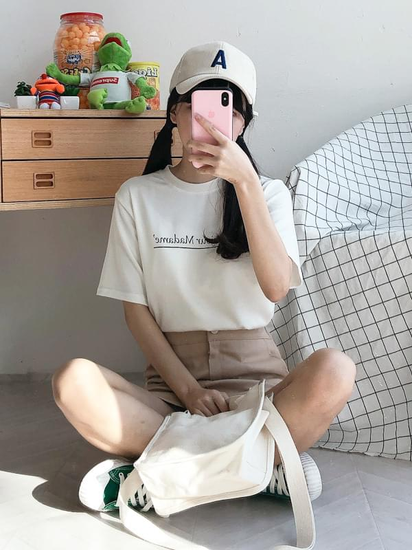 Gemma Lettering Short Sleeve Tee