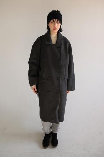 hand pocket double coat