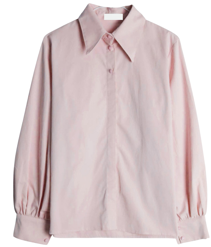 Bean button puff shirt