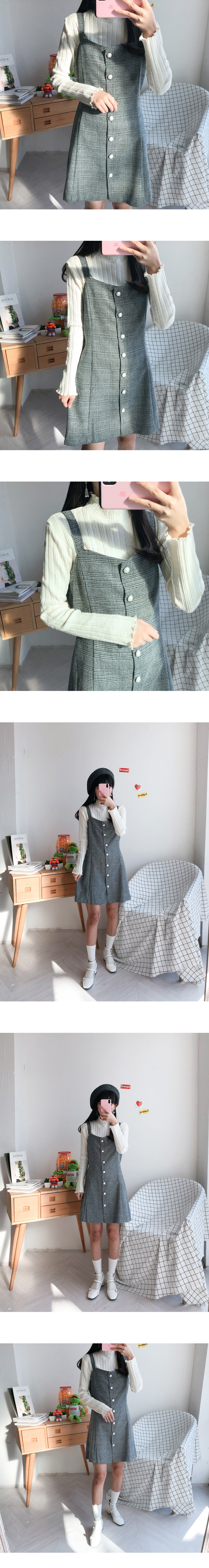 Marie Check pearl dress