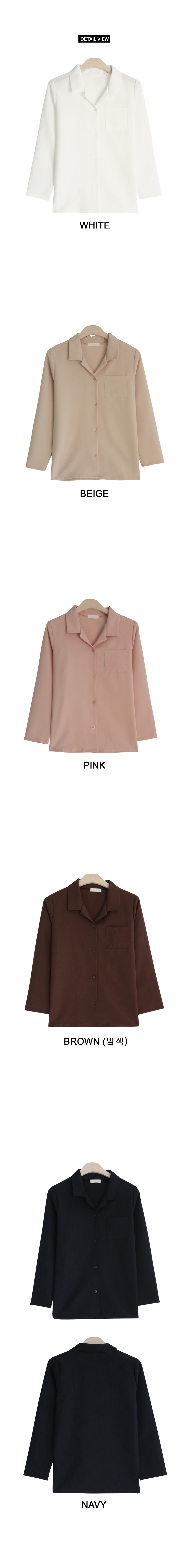 Spring open collar shirt