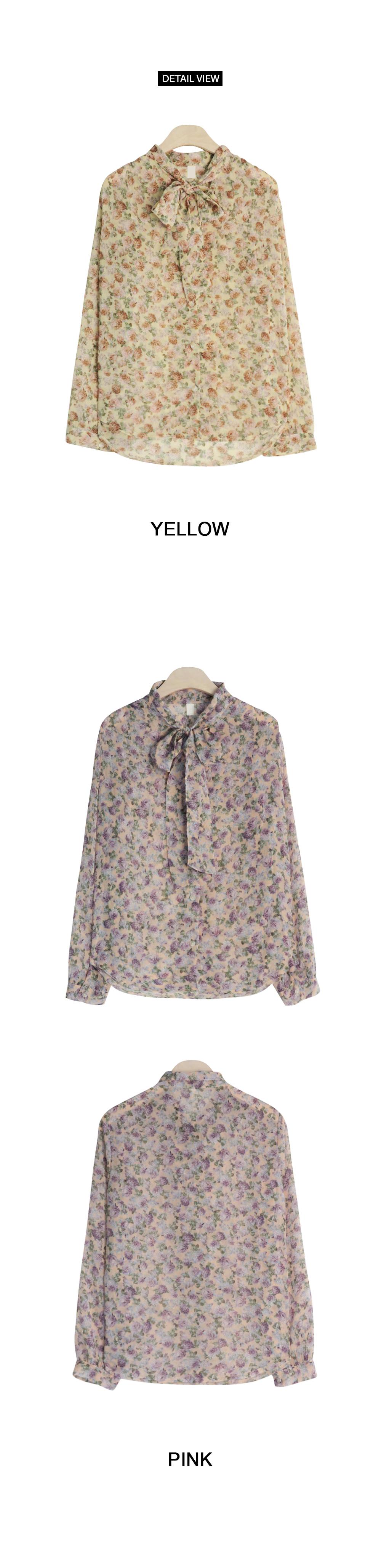 Chiffon vintage rose blouse