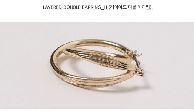 Layered double earring_H (size : one)