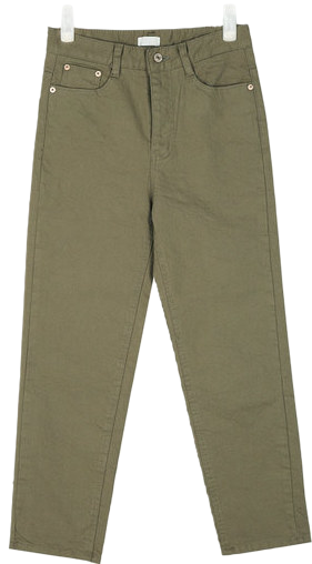 simply straight cotton pants