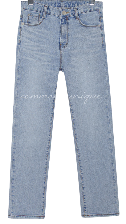 EVER SLIM STRAIGHT DENIM PANTS