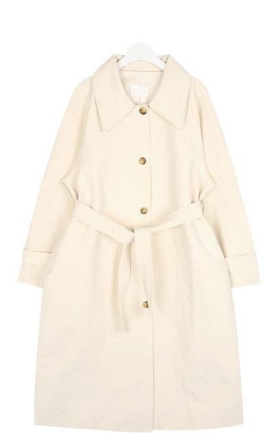 mono collar trench coat